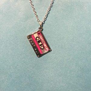 Cassette Tape Necklace 80s